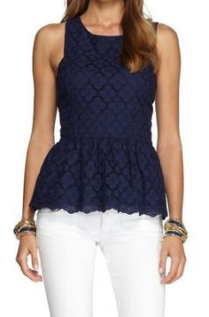 Lilly Pulitzer Ashton Ruffled Peplum Top | love the fabric, not the peplum -- would love to make a dress/skirt from it...maybe a top