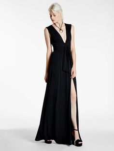 Halston - Draped Jersey Gown