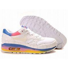 High-Quality Nike Air Max 87 Men White Pink Blue Shoes $64