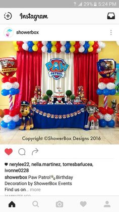 Throw an exceptional get-together for your children's birthday party with these 7 fascinating paw patrol party ideas. The thoughts must be convenient to those who become the true fans of Paw Patrol show. Third Birthday, 4th Birthday Parties, Birthday Fun, Birthday Ideas, Brother Birthday, Birthday Table, Paw Patrol Birthday Decorations, Paw Patrol Birthday Theme, Party Ideas