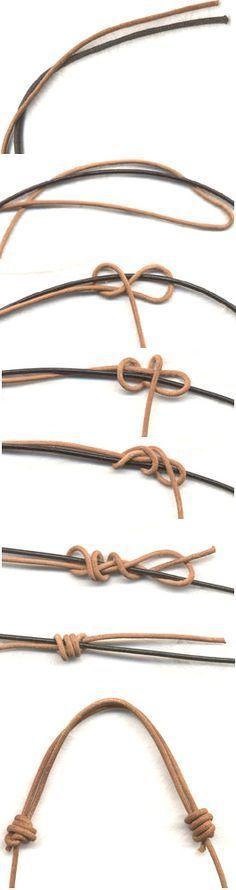 Verschuifbare knoop voor een armbandje of ketting.