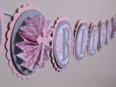God Bless Banner  Custom Baby Name Gray and by AshleyAnnaMarie, $31.00, i like the first circle