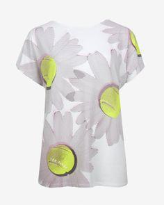 Tennis ball print T-shirt - White | Tops & T-shirts | Ted Baker UK