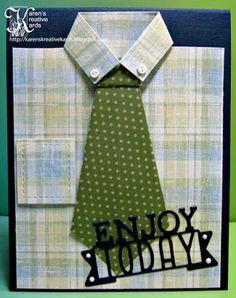 Karen's Kreative Kards: A Guy's Shirt and Tie Card