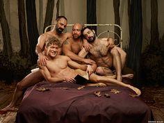 Broadway Bares - Goldilocks!  Eddie Rabon with Armando Farfan Jr., Michael Blatt, and Mike Russo