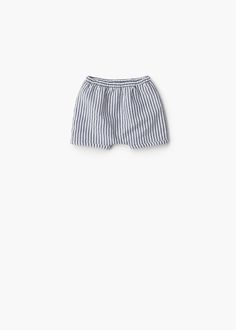 Short à rayures coton | MANGO KIDS