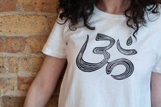 Om T-Shirt High-Low T-Shirt Woman T-Shirt White T-Shirt by Aquani