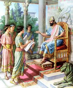 """""""As for these four children, God gave them knowledge and skill in all learning and wisdom: and Daniel had understanding in all visions and dreams. Ancient Persian, Ancient Egyptian Art, Ancient History, Ancient Greece, Bible Images, Bible Pictures, Daniel And The Lions, Bible Illustrations, Bible Study For Kids"""