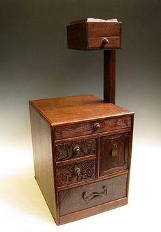 Japanese Haribako Sewing Box Tansu