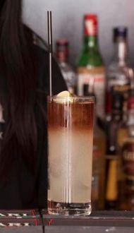 Long Island Iced Tea Recipe: - 1/2 oz Vodka - 1/2 oz Light Rum - 1/2 oz Gin - 1/2 oz Tequila - 1/2 oz Cointreau - 3/4 oz Fresh Lemon Juice - 1/2 oz Sugar Syrup - top Coca Cola Glass: Highball Ice: Cubed Method: Shake and strain Garnish: Lemon wedge