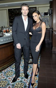 Victoria Beckham and David Beckham Showing PDA in LA