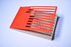 Handmade Notebook - Orange Nicky-3 by Serena Olivieri