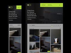 Umber Products designed by Antonio Stojceski. Connect with them on Dribbble; Web Design, Site Design, Graphic Design, Website Layout, Web Layout, Visual Development, Saint Charles, Interior Design Studio, Branding Design