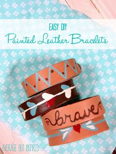 Use Americana Multi-Surface Paint to customize leather cuff bracelets any way you want!