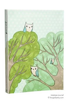 Write in a journal to inspire mindfulness, memory, and gratitude. 192-page Treetops Journal for $10 from http://shop.boygirlparty.com