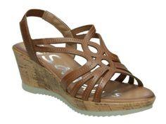 . Sandalia de mujer muy c�moda. Numeraci�n del 35 al 41. Tac�n de 6 cm de altura y 2 cm de plataforma Color cuero. Piel natural muy suave. mas modelos en : wwww.cary-shoes-urban.com