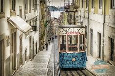 5 ways to Travel around Lisboa | via Travelling Book Junkies | 31/03/2015 If you have ever visited Lisbon you will know that the hills are steep, arduous climbs. So if you want to see the city without the strenuous efforts of walking check out our suggestions below. Photo: The Bica Funicular in Lisbon overlooking the Tagus River