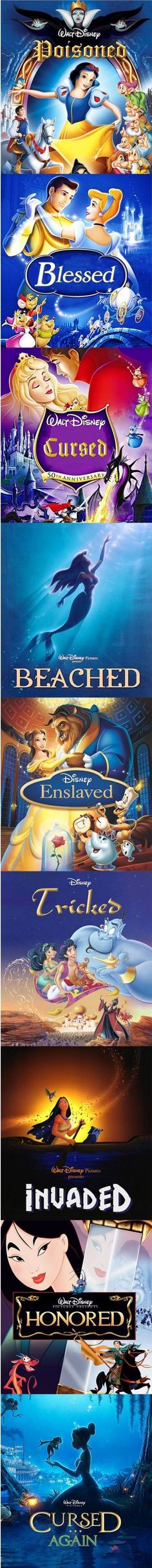 If the old Disney Princess movies went with the trend of using adjectives for the title.