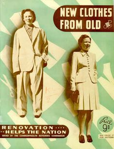 make do and mend, re-making clothes, 1940s rationing, 40s fashion - new clothes from old booklet, Australia