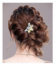Twists into Low Side Bun.. Possibility for bridemaids hair .. Lindsay