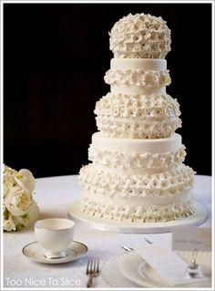 Found on WeddingMeYou.com - Elegant White Wedding Cake Ideas