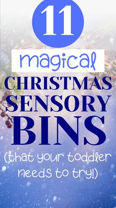 In search of fun Christmas activities to do with your toddler? Try these festive Christmas sensory bins for toddlers! These sensory play bins make the perfect indoor activity to get your toddler in the Christmas spirit! Christmas Activities For Toddlers, Indoor Activities For Toddlers, Rainy Day Activities, Motor Activities, Toddler Sensory Bins, Toddler Preschool, Toddler Crafts, Toddler Learning, Sensory Play