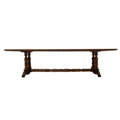 Spanish Colonial Dining Table | From a unique collection of antique and modern dining room tables at https://www.1stdibs.com/furniture/tables/dining-room-tables/