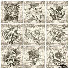 Коллекция винтажных открыток - Векторный клипарт | Collection de cartes postales - Stock Vectors