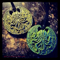 Cthulhu Cultist Medallions by Cryptocurium on Etsy