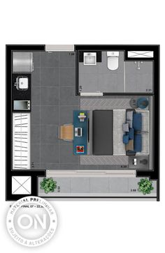 Life is on Studio Apartment Floor Plans, Studio Apartment Layout, Apartment Plans, Apartment Design, Little House Plans, Small House Plans, House Floor Plans, Bachelor Room, Hotel Floor Plan