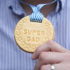 Personalised Father's Day Medal Biscuit - biscuits and cookies