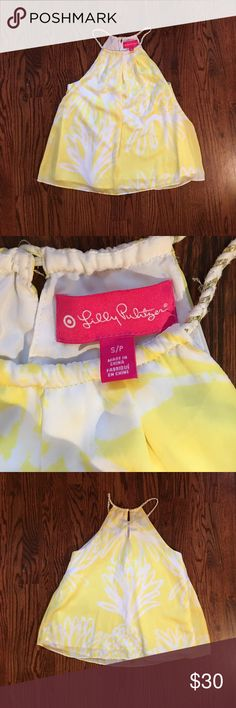 Lilly Pulitzer for Target Yellow Pineapple Tank Yellow Lilly for Target pineapple tank. High Neck with braided straps. Measure approx: 17 in bust & 24 in long Lilly Pulitzer for Target Tops Tank Tops