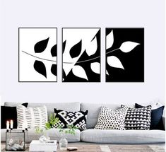 3 Piece Canvas Art, Diy Canvas Art, Canvas Wall Art, Wall Art Prints, 3 Piece Wall Art, Wall Art Sets, Diy Wall Art, Black And White Wall Art, Black And White Design