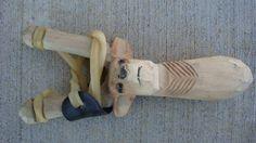 Wooden 3D Hand Carved Deer Head Sling shot real by GoodtradeKevin, $12.95
