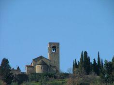 Pistoia hills -  a solitary church: Pieve S. Giovanni a Montecuccoli - Valdibure
