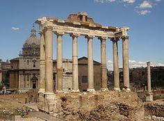 El templo de Saturno es un monumento dedicado a la deidad agrícola Saturno. Es uno de los templos romanos más antiguos construidos en el entorno del Foro. Se construyó entre 501 y 498 a. C.