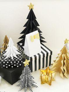 DIY Origami Christmas Trees