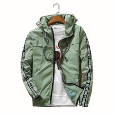 Dmart7deal bomber Causal Hooded Jacket,Men Thin Windbreaker Zipper Coats Outwear