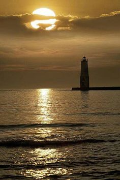 Frankfort lighthouse in Michigan
