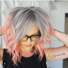 18 Ombre Hair Color for Short Hair - Hair - Blorange Hair, Hair Job, Girl Hair, Cheveux Oranges, Pink Ombre Hair, Pink Grey Hair, Blue Ombre, Orange And Pink Hair, Blonde Hair With Purple Tips