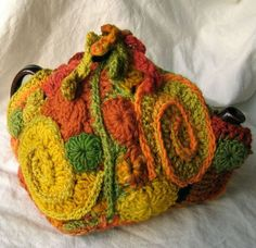 Tea Cozy made in Freeform Crochet by 2SistersStringworks, $55.00: