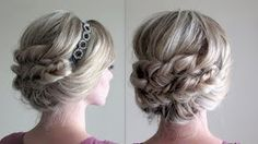 annies forget me knots fishtail updo