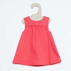 Vestido de algodón flocado                                                                                                                                                                                                 BLEU Bebé niña