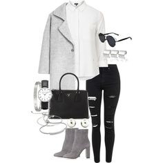 Untitled #217 by thinguyen-x on Polyvore featuring polyvore, fashion, style, Topshop, MANGO, Gianvito Rossi, Prada, Monica Vinader, Tiffany & Co. and Michael Kors