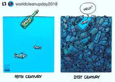#Repost @worldcleanupday2018 Help! Our Planet is drowning in trash. The times we live in now are crucial to the future of our Planet and the next generations. This is an alarming prospect but it is in our hands to open our eyes and start taking action towards a world with much less trash. On the 15th of September we will make a considerable dent into the world's trash. Will you join us? #WorldCleanupDay #trashblindness #makeachange #plastic #nature #cleanocean #plasticpollution #blueplanet…