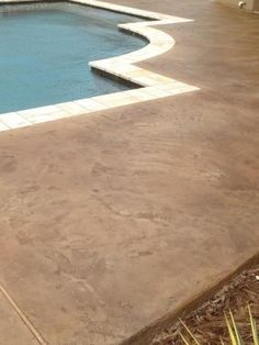 stamped concrete pool decks photos | stamped concrete - pool deck