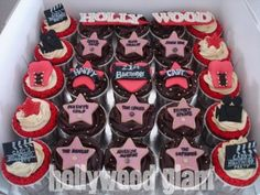 Hollywood Theme Cupcakes by Cups 'n' Cakes by Hanita, via Flickr