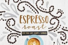 Espresso Roast Font Trio by everytuesday on @creativemarket