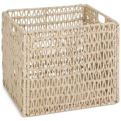Honey-Can-Do Folding Basket (82 SAR) ❤ liked on Polyvore featuring home, home decor, small item storage, beige, storage baskets and book baskets