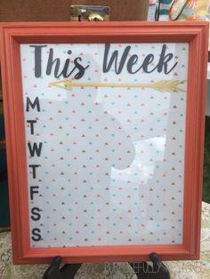 Distressed framed WEEKLY PLANNER. This Week. Plan